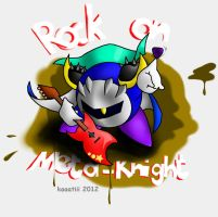 Rock on Meta Knight by Wolfwrathknight