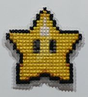 Mario - Power Star by Makibird-Stitching
