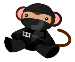 ninja monkey by michpolainas