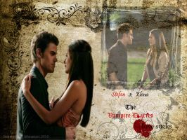 stefan and elena by faintsmile28