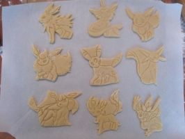 All Eeveelution Cookies by B2Squared