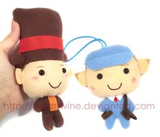 Layton and Luke small plush by prismtwine
