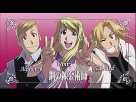 Al, Winry and Ed by lovefma