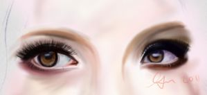 Eye Practise: Baby Doll by SparManTan