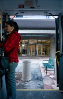 Through the Bus Doors 3 by bowtiephotography