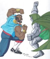 Mr T vs Doctor Doom by RobertMacQuarrie1