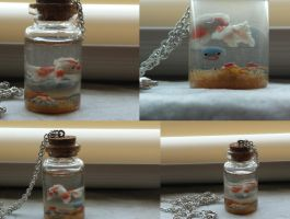 Pokemon Underwater Bottle Necklace