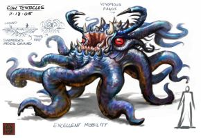 Tentacle Creature Design by VegasMike