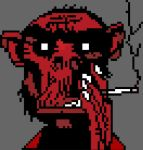 Fire Coming Out Of The Monkey's Head (Pixel Art) by Aled1918