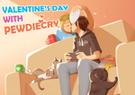 Valentine's day with PewdieCry by aulauly7