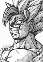 Goku SSJ2 Black Pen draw by SigmaGFX