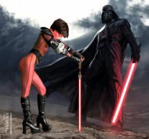 Dark Lady Li and her Master by Eat-Sith