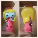 Polymer Clay Bloody Ghost Girl Chibi Charm~ by mattiemazingcharms