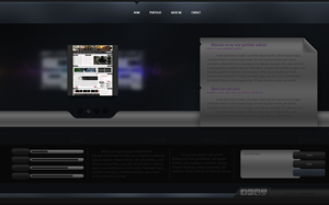 Dark Portfolio Design by victorrk