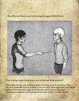 Harry offers Draco his wand by raitala