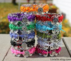 Pop Tab Bracelets by LWaite