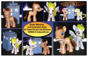 MLP: The Doctor and Derpy Custom Ponies by Neko-daewen