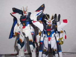 Both of my Stirke Gundams by Dark-Hound