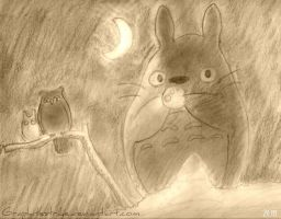 Totoro + Trees : Love by GraphiteStrike