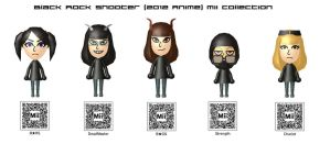 Black Rock Shooter (2012 Anime) Mii Collection by EvoDeus