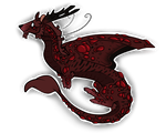 Sanguine - Flight Rising Sticker by ThePyromaniaWithin