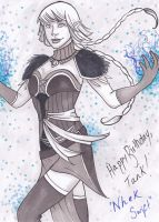 Nhek Swift Sketch Card by lubyelfears