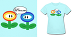 Mario Flowers Shirt by Enlightenup23