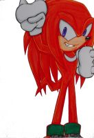 Knuckles (coloured) by Sky-The-Echidna