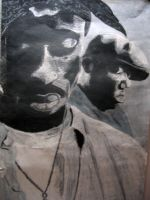 Tupac and Biggie by rEk-1