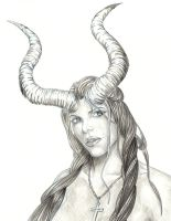 Woman with horns by bigboss1