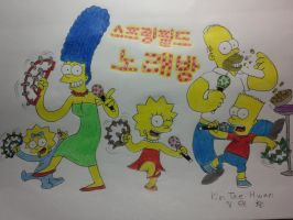 The simpsons:Springfield Singing room! by komi114