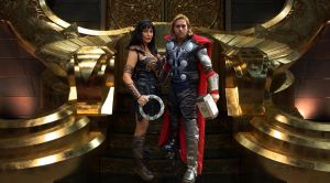 Xena and Thor in the Throne room! by captainjaze