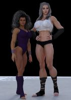 Buffed  girls  by DLB72