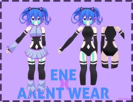 Ene X Axent  Wear by SoNyaNeko
