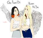 Two Angels Go EunBi Kwon RiSe by Thepowerof9Beauties