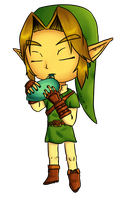 Chibi Ocarina of Time Link by Izagar
