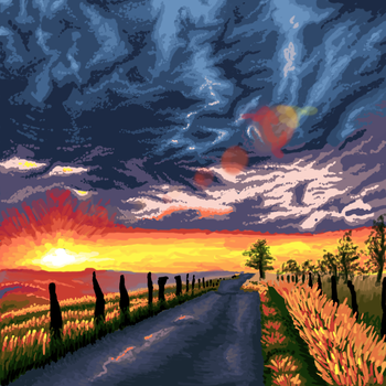 Speed Draw Sunset by Ultimaodin