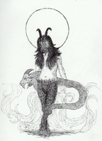 Chimera Goddess by CandidKatydid
