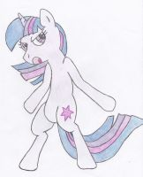 Twilight Sparkle color pencil by Rakkard