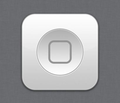 Home button White - Flurry style by Lukeedee