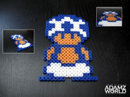 Toad - Perler Beads by Adamzworld