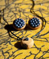 Blueberry Filled Pastry Necklace by SweetSugaRush