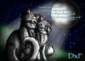 Graystripe and Silverstream by DovexFeather