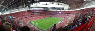 Wembley Stadium Interior by ggeudraco