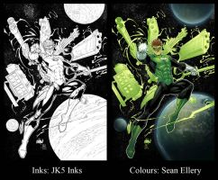 Marion Green Lantern SBS by JK5-Inks