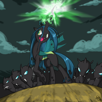 MLP:fim - Chrysalis and Minions by BrainSucks