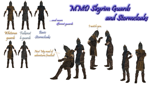 MMD TES V: Guards and Stormcloaks pack by Tokami-Fuko