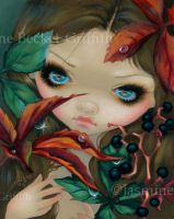 Poisonous Beauties X: Virginia Creeper by jasminetoad