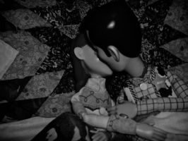 Woody and Jessie Kissing by MusicFan1324354657