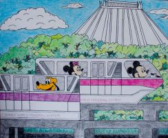 Mom's Monorail by AreteEirene